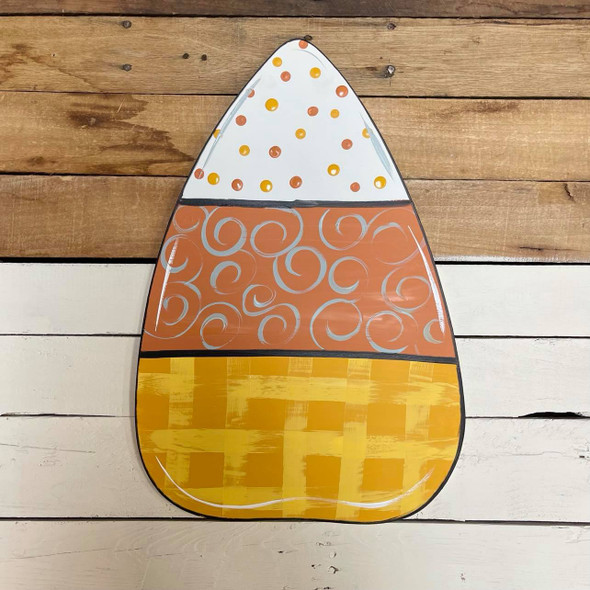 Candy Corn Unfinished Cutout, Wooden Shape, Paintable Wooden MDF DIY