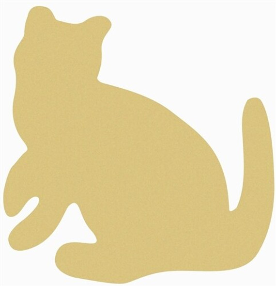 Cat Unfinished Cutout Paintable Wooden MDF DIY Craft