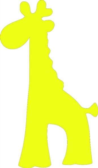 Children Giraffe Unfinished Cutout, Wooden Shape,  Paintable MDF DIY