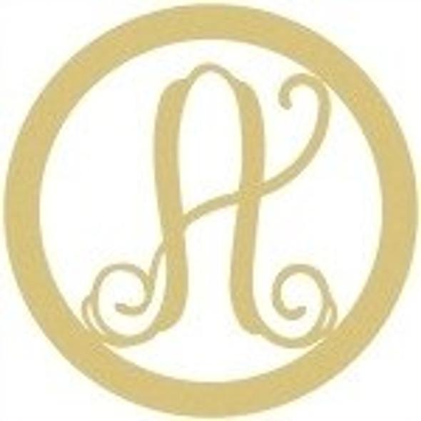 Circle Framed Monogram Letter-A