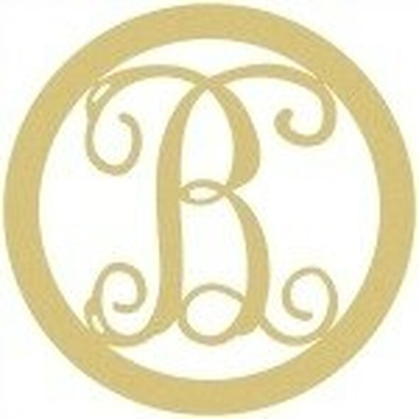 Circle Framed Monogram Letter-B