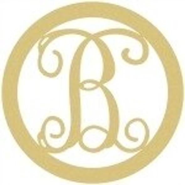 Circle Framed Monogram Letter-B