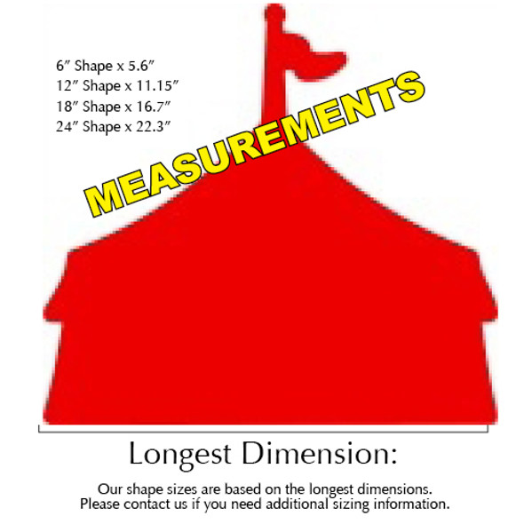 Circus Tent Unfinished Cutout, Wooden Shape,  Paintable MDF DIY Craft