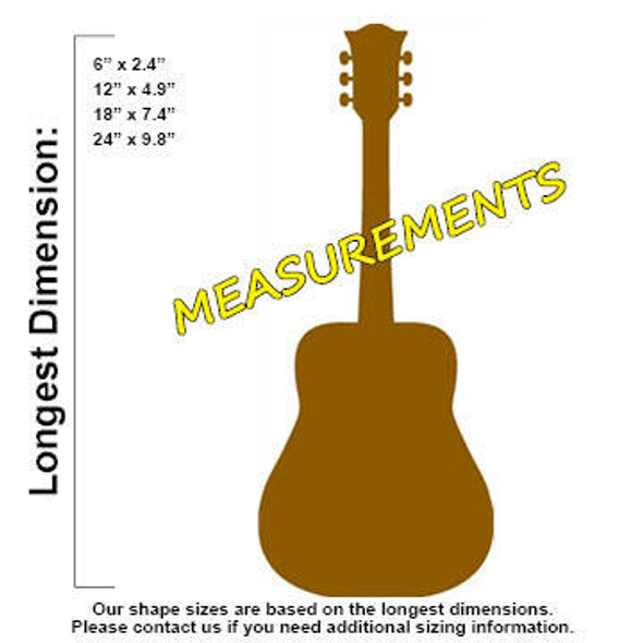 Country Guitar Unfinished Cutout measurements