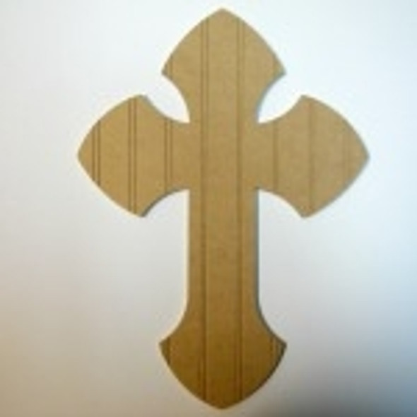 Unfinished Wooden Cross 1 Beadboard  Paint-able Wall Hanging Stackable