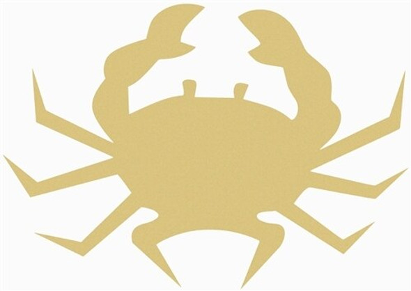 Crab Unfinished Cutout Paintable Wooden MDF DIY Craft