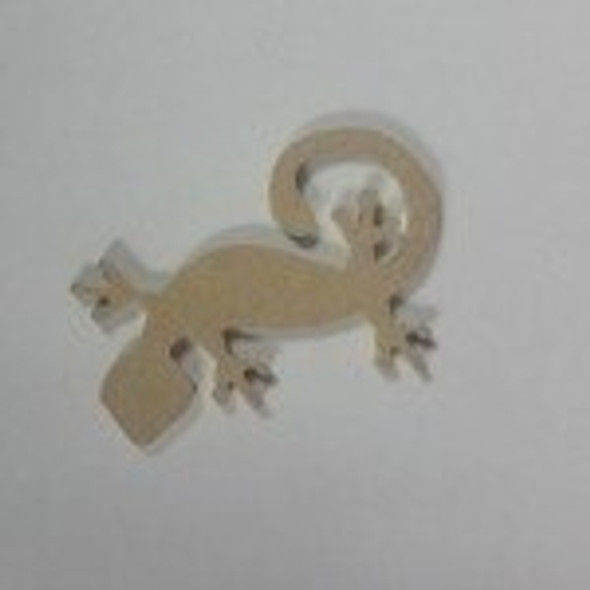 Critter Gecko Unfinished Cutout MDF DIY Craft