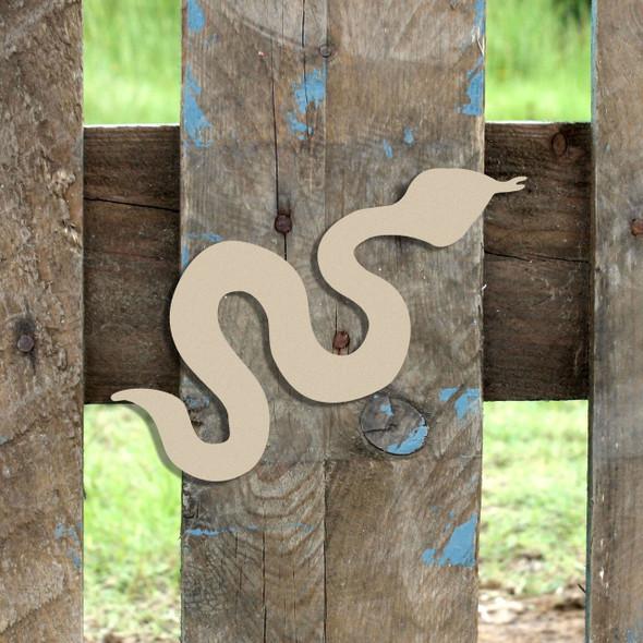 Critter Snake Unfinished Cutout, Wooden Shape, MDF DIY Craft