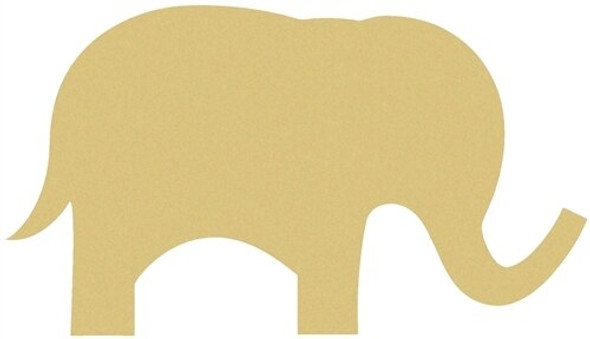 Cute Elephant Unfinished Cutout