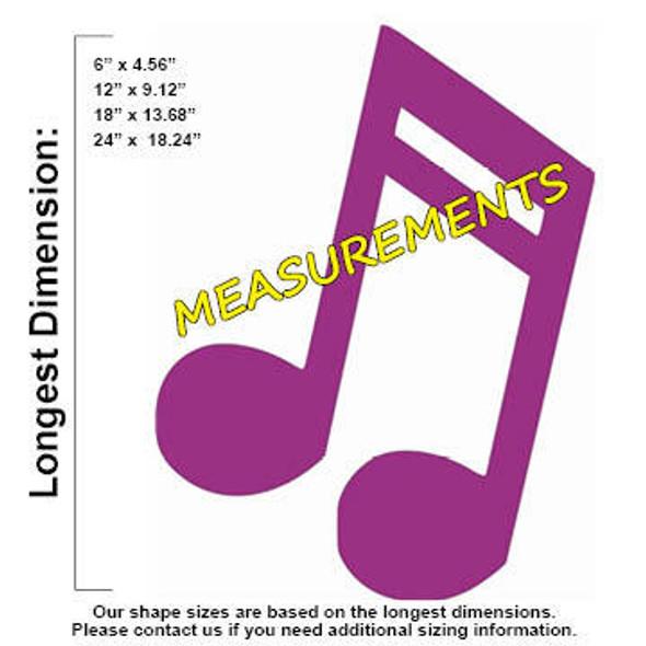 Doublenote Unfinished Cutout MEASUREMENTS