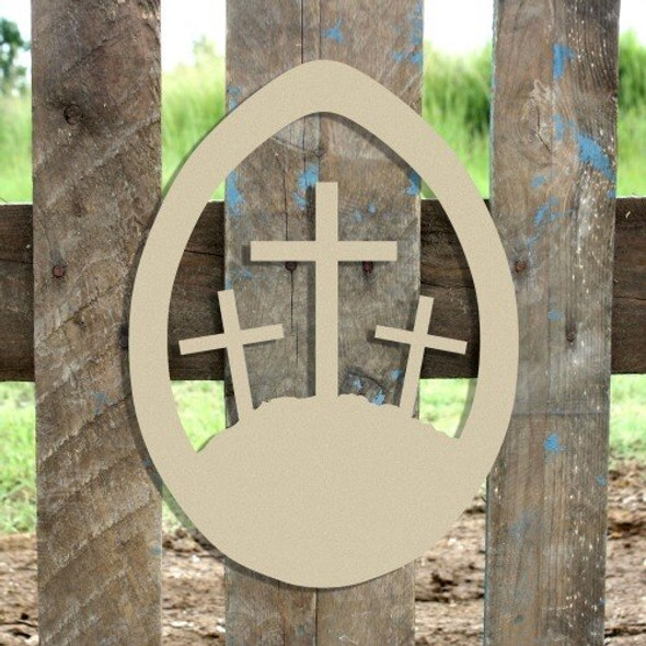 Easter Egg Crosses Unfinished Cutout