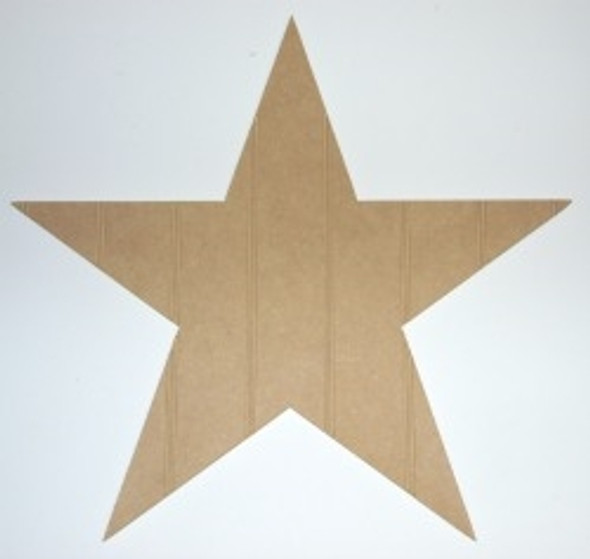 Wooden Star Cutout Beadboard Shape Paintable MDF DIY Craft