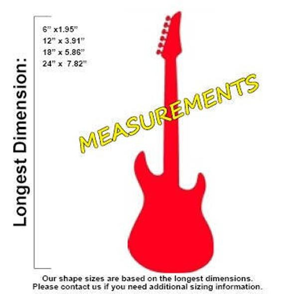 Electric Guitar Unfinished Cutout MEASUREMENTS