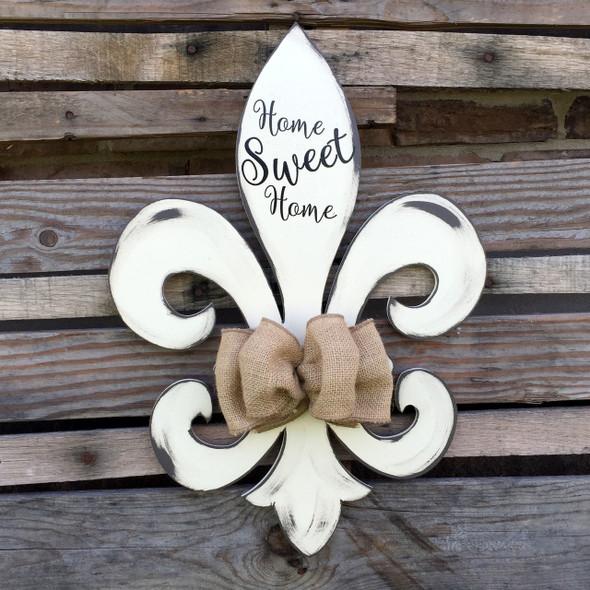 Fleur de Lis Unfinished Cutout, Wooden Shape, Paintable MDF DIY Craft