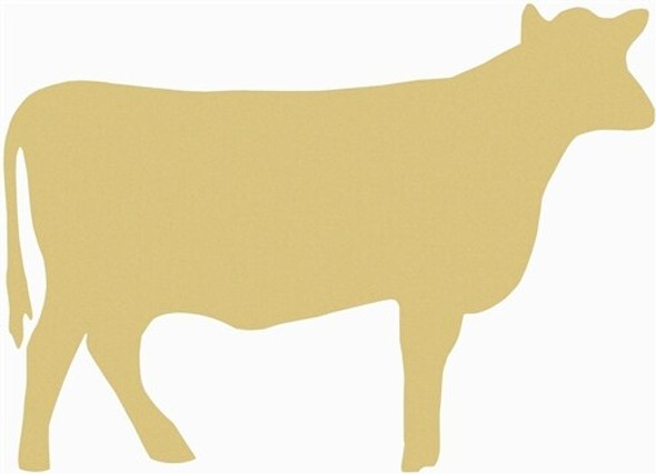 Cow Unfinished Cutout Paintable Wooden MDF DIY Craft