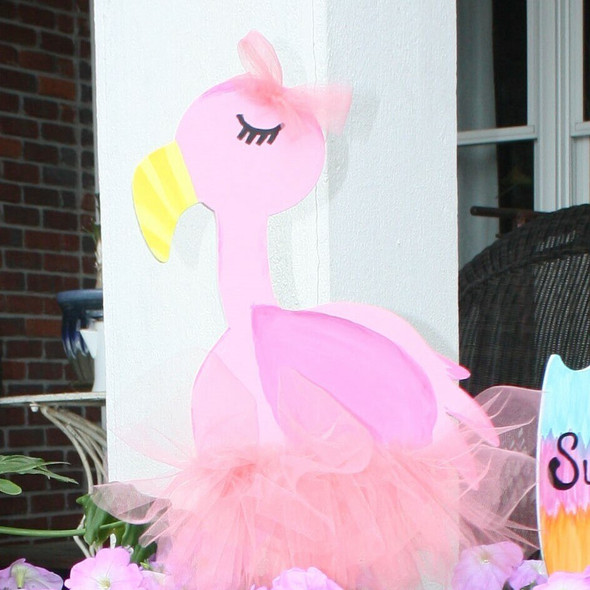 FLAMINGO Unfinished Cutout Paintable Wooden DIY Craft