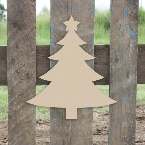 Wooden Christmas Tree With Star