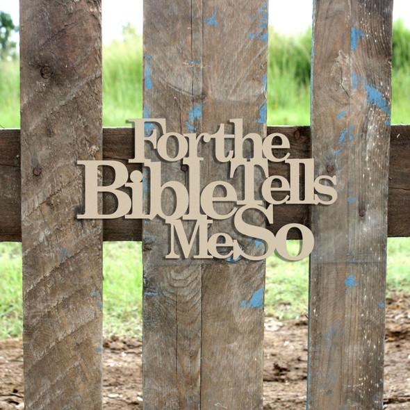 For The Bible Word Unfinished Cutout, Wooden Shape, MDF DIY Craft
