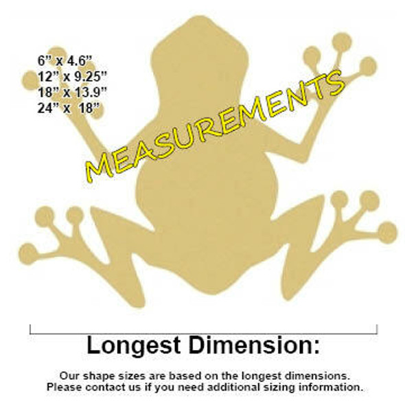 FROG Unfinished Cutout MEASUREMENTS