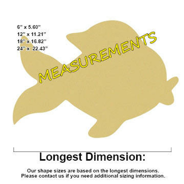 Gold Fish Unfinished Cutout measuremnts