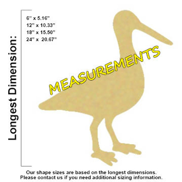 Egret Unfinished Cutout, Wooden Shape, Paintable Wooden MDF DIY Craft