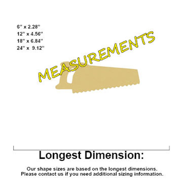 Hand Saw Unfinished Cutout, Wooden Shape, MDF DIY Craft