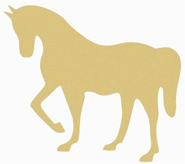 Horse Unfinished Cutout Paintable Wooden MDF