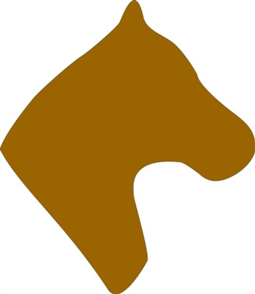 Horsehead Unfinished Cutout, Wooden Shape, Paintable Wooden MDF DIY