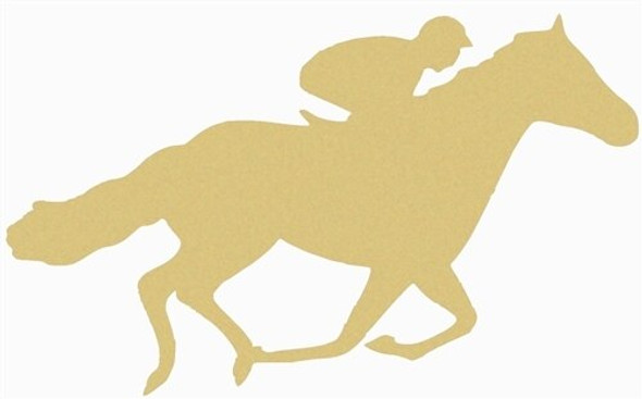 Horse with Rider Unfinished Cutout