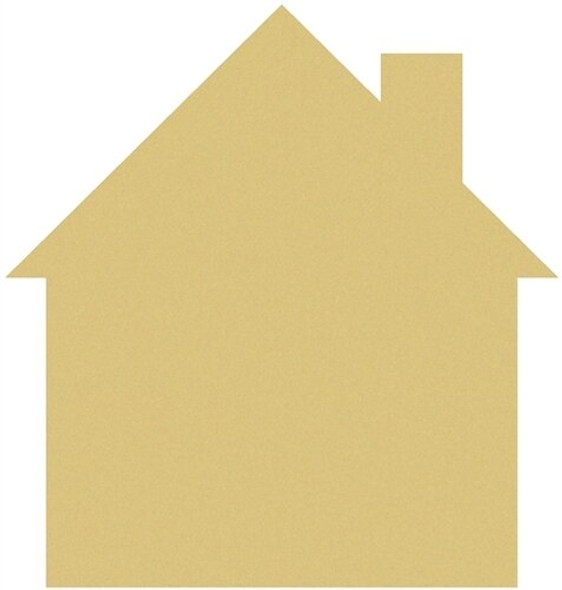 House Unfinished Cutout Paintable MDF DIY Craft