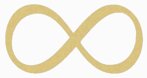 Infinity Unfinished Cutout, Wooden Shape, Paintable Wooden MDF