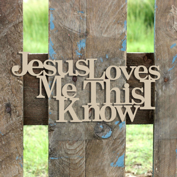 Jesus Loves Me Word Unfinished Cutout, Wooden Shape, MDF DIY Craft
