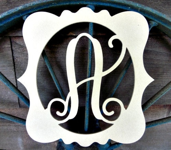 Katie Framed Monogram Letter Unfinished DIY Craft