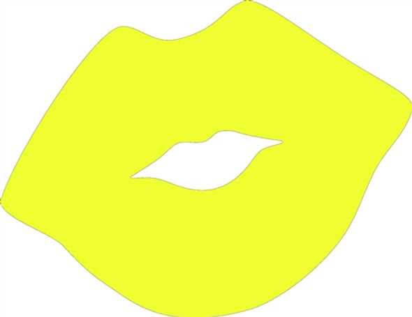 Kissing Lips Unfinished Cutout, Wooden Shape, Paintable Wooden MDF DIY