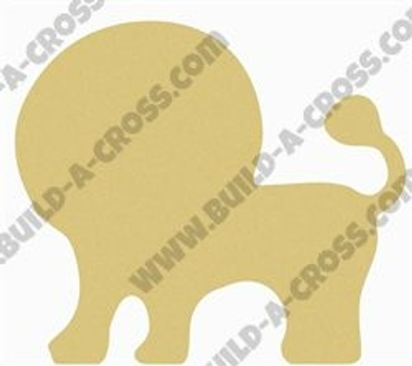 Lion Unfinished Cutout, Wooden Shape, Paintable Wooden MDF