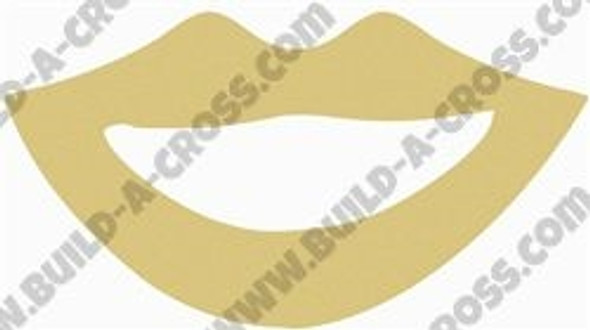 Lips Unfinished Cutout, Wooden Shape, Paintable Wooden MDF