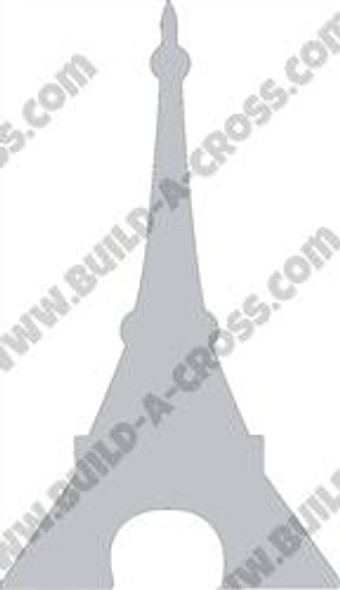 Eiffel Tower Unfinished Cutout, Wooden Shape, Paintable Wooden