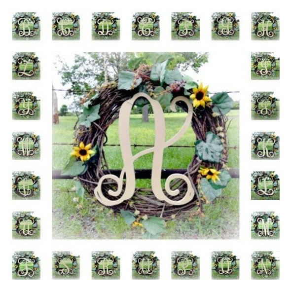 Monogram Letter Uppercase Wooden