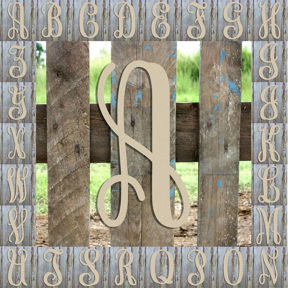 Monogram Lowercase Wooden Unfinished Alphabet Letter Craft