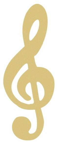 Music Note Treble Clef Unfinished Cutout