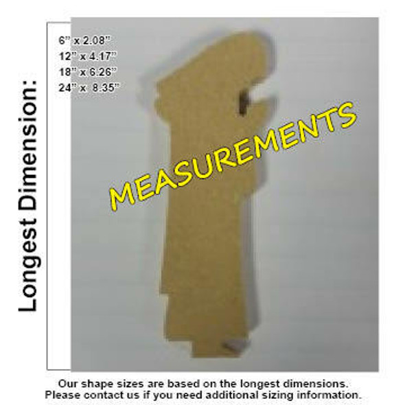 Nativity Joseph Unfinished Cutout measurements