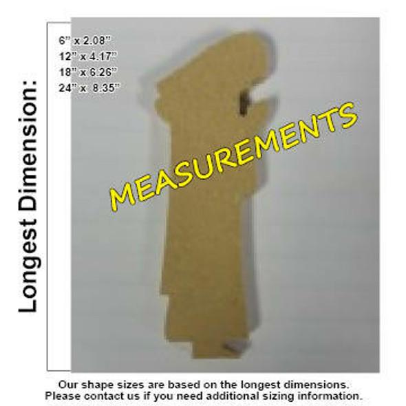 Nativity Joseph Unfinished Cutout measurements