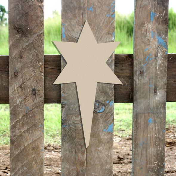 Nativity North Star Unfinished Cutout
