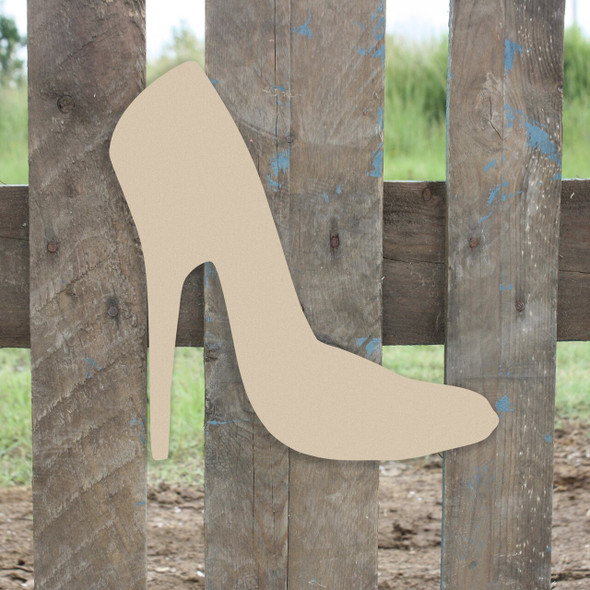 High Heel Unfinished Cutout, Wooden Shape