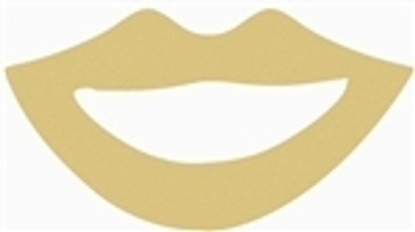 New York Lips Unfinished Cutout, Wooden Shape, MDF DIY Craft