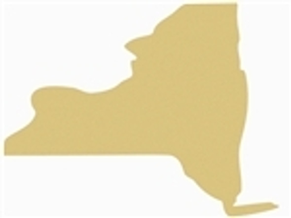 A New York State Unfinished Cutout, Wooden Shape, MDF DIY Craft