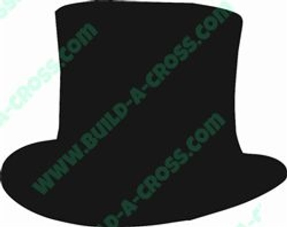 Top Hat Unfinished Cutout, Wooden Shape, MDF DIY Craft