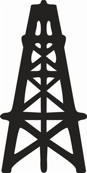 Oil Derrick Unfinished Cutout Paintable Wooden MDF DIY