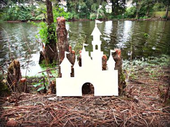 Princess Castle Unfinished Cutout, Wooden Shape, Paintable Wooden MDF DIY