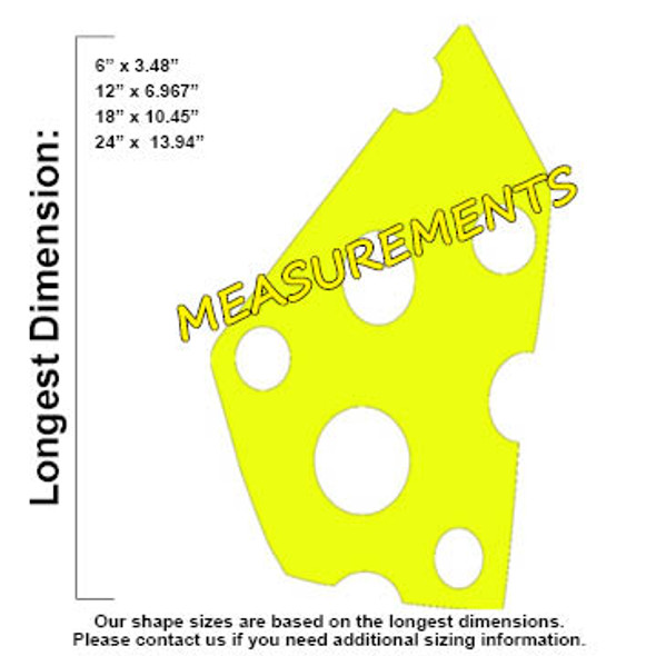 Paris Cheese Unfinished Cutout, Wooden Shape, Paintable Wooden MDF